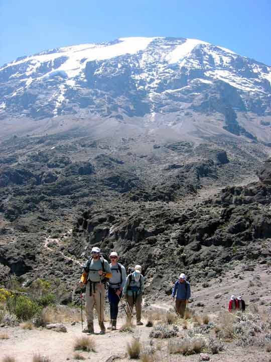 machame route down to mweka camp
